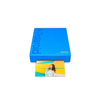 Impresora Polaroid MINT Mobile Azul incluye papel pack 10 fotos