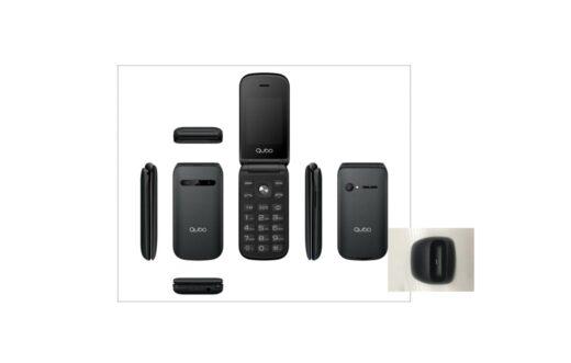 Telefono movil - Qubo X-209, Dual SIM, Negro con Base de Carga | X209BLACK