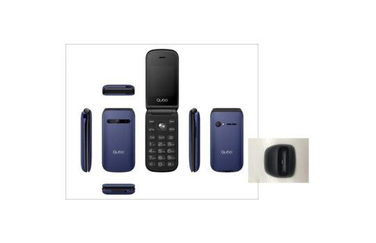 Teléfono Móvil Qubo X-209, Dual SIM, Azul + Base de Carga