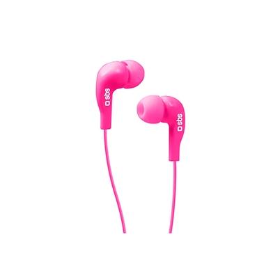 Auricular - SBS StudioMix 10, Stereo, Microfono y Boton respuesta Rosa   TUA200470