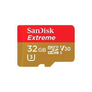 Tarjeta Memoria - SDHC Micro   32Gb Sandisk Extreme 100Mb/s Clase 10 + Adaptador | SDSQXAF-032G-GN6AA