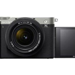Cámara Evil Sony Alpha 7C ILCE-7CLS Plata Objetivo 28-60mm + Bolsa LCSX10