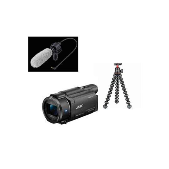 Sony Cámara Video Handycam Flash FDR-AX53 Kit Blogueros