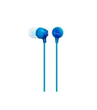 Sony Auricular MDR-EX15LP Azul 8Hz–22kHz, Cable 1,2 mts