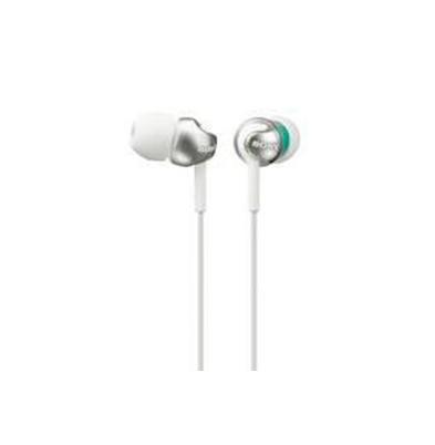 Sony Auricular MDR-EX110LP Blanco 5Hz-24kHz,16 ohmios, cable 1,2 mts