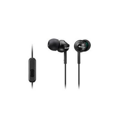 Sony Auricular MDR-EX110AP Negro 5Hz-24kHz,16 ohmios, cable 1,2 mts, con Micro.