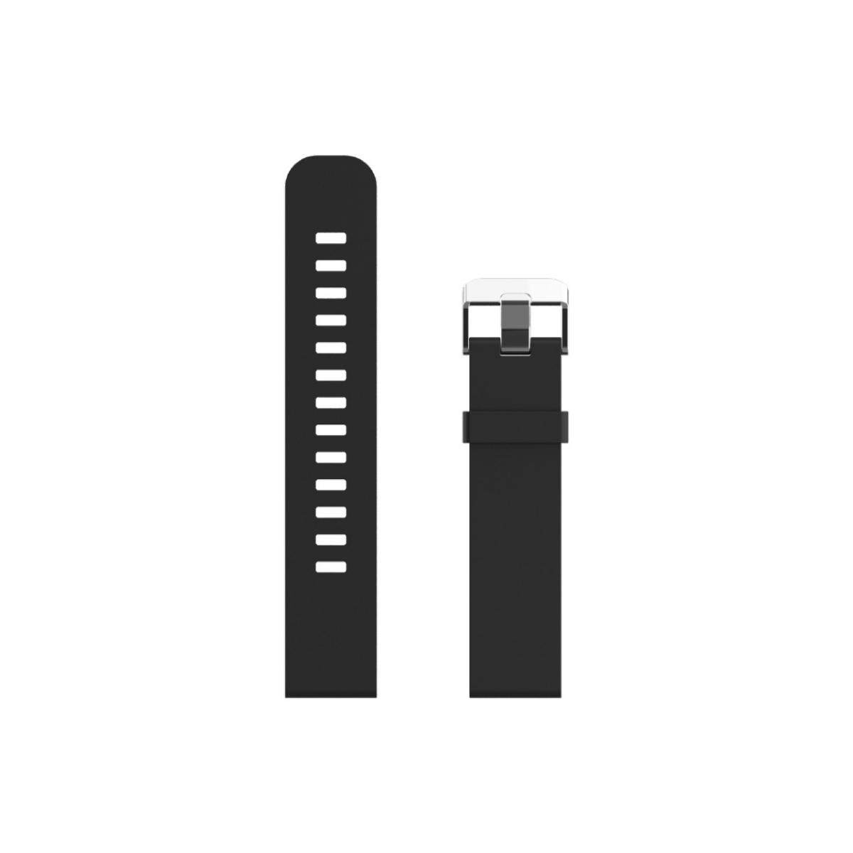 Swiss+Go Correa Silicona Negra 20 mm. para Bern, Arosa y otros