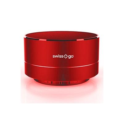 Swiss+Go Altavoz Bluetooth Portátil Clio BT-001 Metálico Rojo