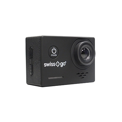 Cámara Video Aventura Swiss+Go SG-1.0 Full HD Negra + Accesorios