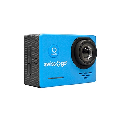 Cámara Video Aventura Swiss+Go SG-1.0 Full HD Azul + Accesorios