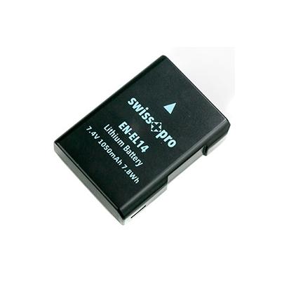 Swiss+Pro Batería EN-EL 14 1050mAh
