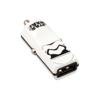 Tribe Cargador Coche Stormtrooper 1XUSB Blanco carga rápida