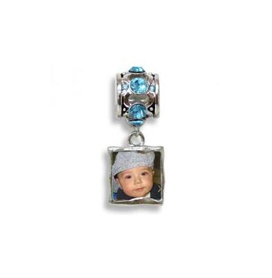 AP Foto-Joya Personalizable Pulsera pieza extra Aquamarine