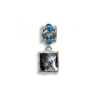 Foto-Joya Pulsera pieza extra porta foto Blue Zircon | MMK.AOB.000.012
