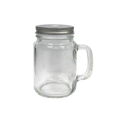 Jarra Mason Cristal 350 ml Con Tapa