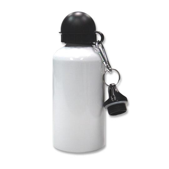 AP Botella 500ml Personalizable Blanca con dos tapones