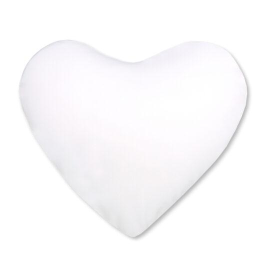 AP Cojin Funda Blanca Personalizable 37x37 Corazón tacto seda