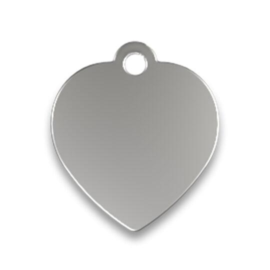 AP Chapa Identificacion Aluminio Personalizable Corazón 3,1x3,5 cm 1 cara