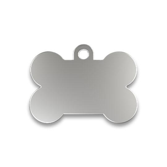 AP Chapa Identificacion Aluminio Personalizable Hueso 2,5x3,8 cm 1 cara