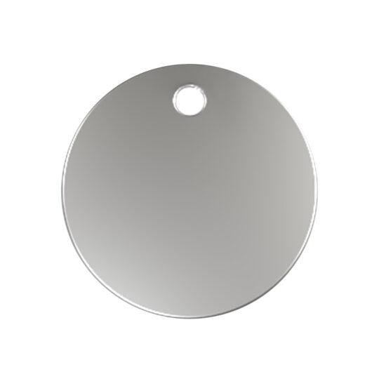 AP Chapa Identificacion Aluminio Personalizable Circular 3,8 cm 1 cara
