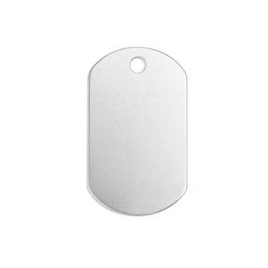 AP Chapa Identificacion Aluminio Personalizable 2,8x5 cm 1 cara