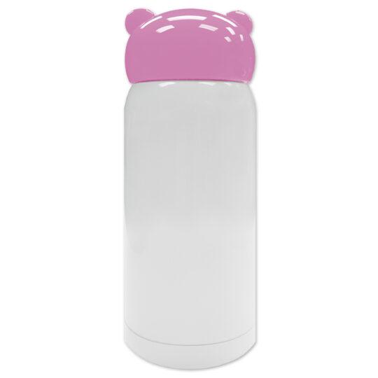 AP Botella 320 ml Personalizable Termo Acero Inoxidable Blanco/Rosa