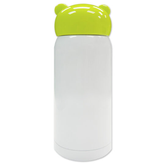AP Botella 320 ml Personalizable Termo Acero Inoxidable Blanco/Verde