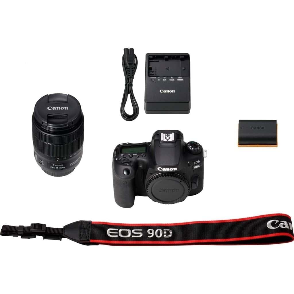 Canon Cámara Reflex Eos 90D Kit Objetivo EF-S 18-135mm F3.5-5.6 IS USM