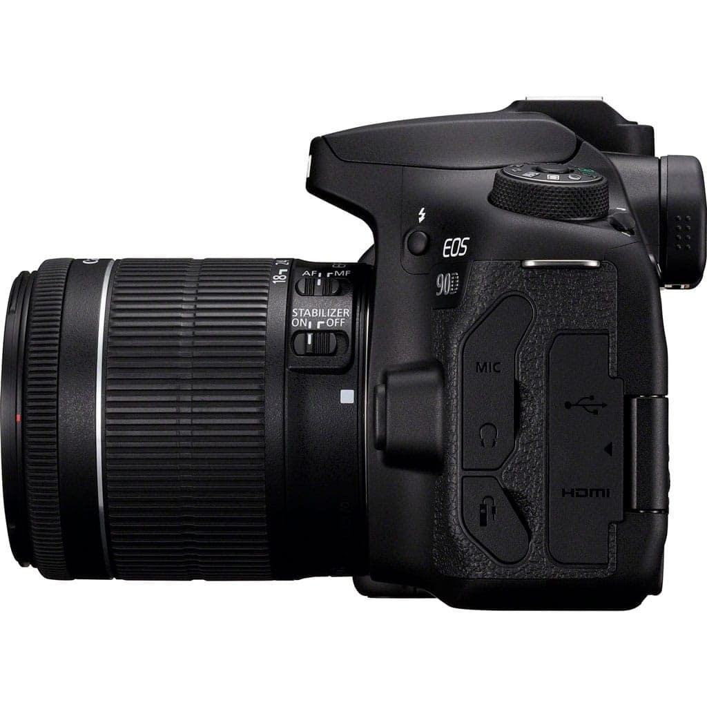 Canon Cámara Reflex Eos 90D Kit Objetivo EF-S 18-55mm F4-5.6 IS STM