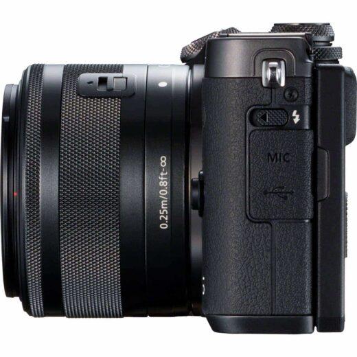 Camara Evil - Canon Eos M6 + EF-M 15-45mm F3.5-5.6 IS STM Negra | 1724C012AA