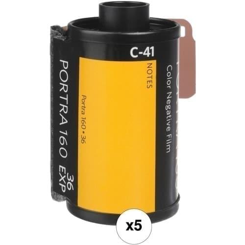 Kodak Portra 160-36 Película Negativo Color Pack 5 unidades