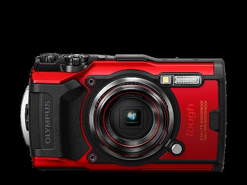 Olympus Cámara Compacta TG-6 Roja Sumergible 15 mts
