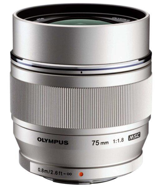 Objetivo - Olympus M.Zuiko Digital ED 75mm 1:1.8 Plata (metalico)   V311040SE000