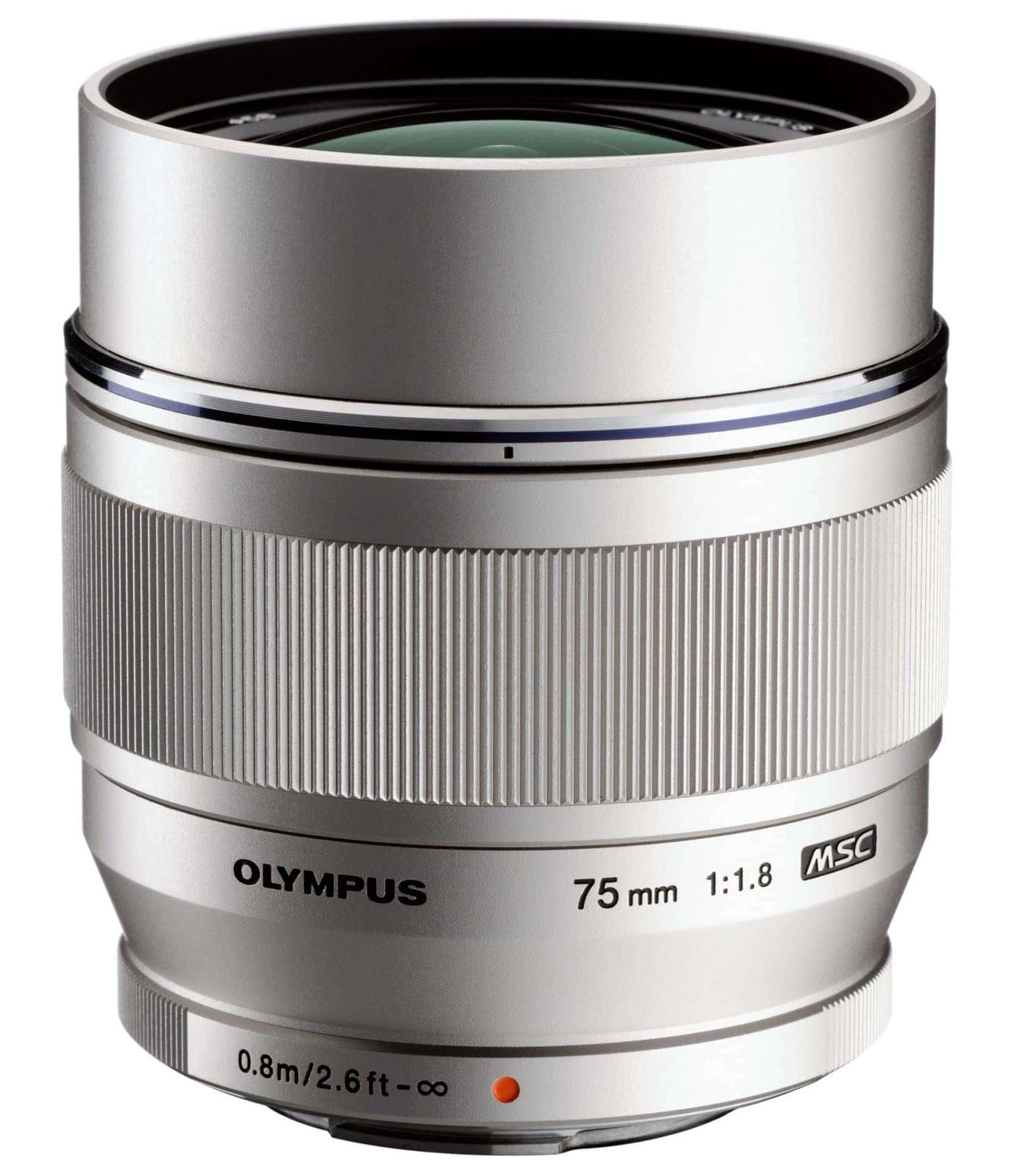 Olympus M.Zuiko Objetivo Digital ED 75mm f/1.8 Plata (Metálico)