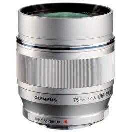 Objetivo Olympus M.Zuiko Digital ED 75mm f/1.8 Plata (Metálico)