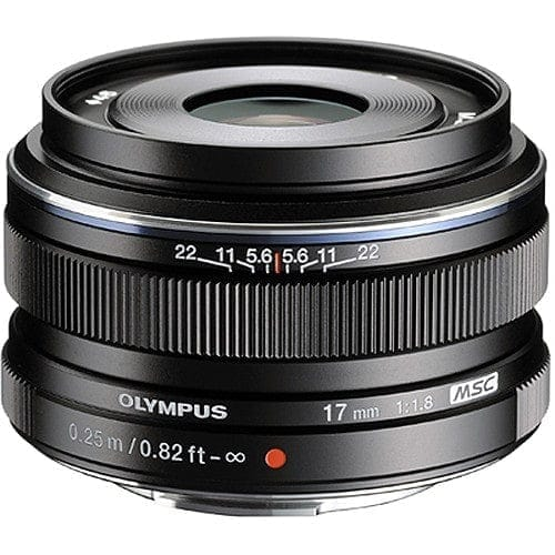 Olympus M.Zuiko Objetivo Digital 17mm f/1.8 Negro (Metálico)