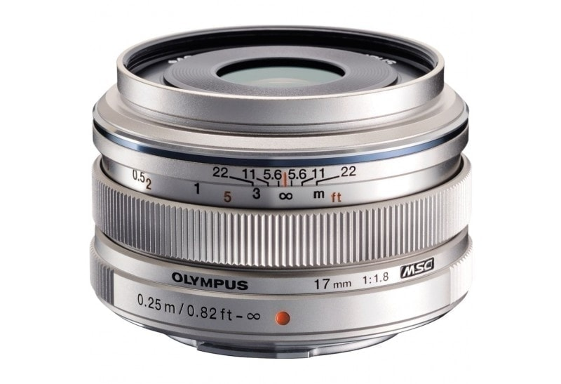 Olympus M.Zuiko Objetivo Digital 17mm f/1.8 Plata (Metálico)