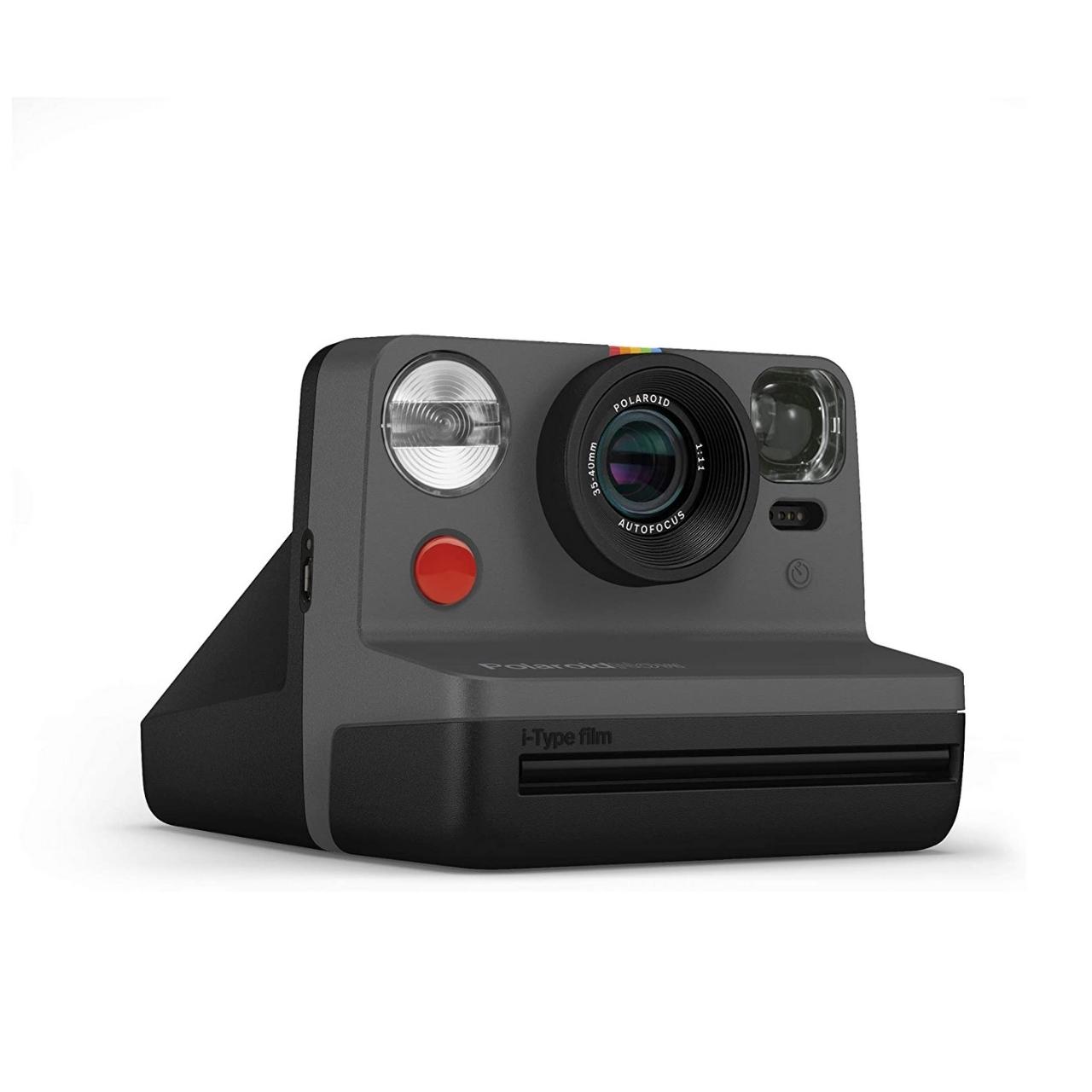 Polaroid Now Cámara Instantánea Negra + Bipack i-Type