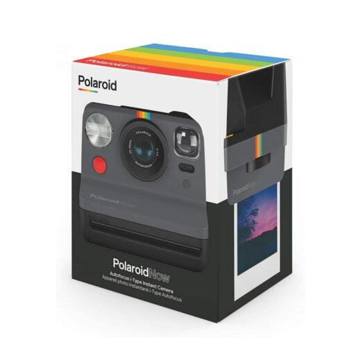 Cámara Instantánea Polaroid Now Negra + Bipack i-Type | 6026