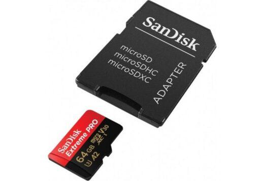 Tarjeta Memoria - SDXC Micro   64Gb Sandisk Extreme Pro 170Mb/s C10 A2+ Adap.+Rescue | SDSQXCY-064G-GN6MA