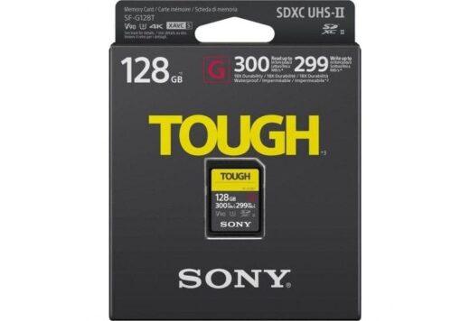Tarjeta Memoria SDXC 128Gb Sony Tough Prof. UHS-II R300 W299 V90 C10 | SFG1TG