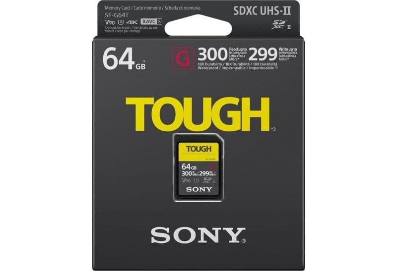 Sony Tarjeta Memoria SDXC   64Gb Sony Tough Prof. UHS-II R300 W299 V90 C10