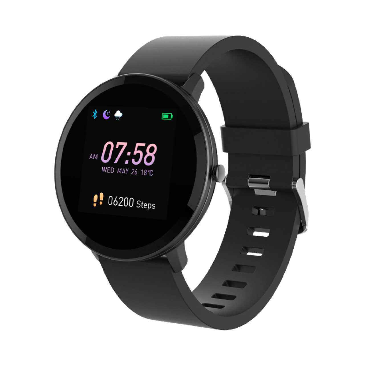 Swiss+Go Smart Watch Arosa Esfera Negra correa Negra
