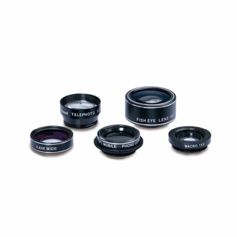 Swiss+Go Kit lentes 5 en 1 + funda para smartphone