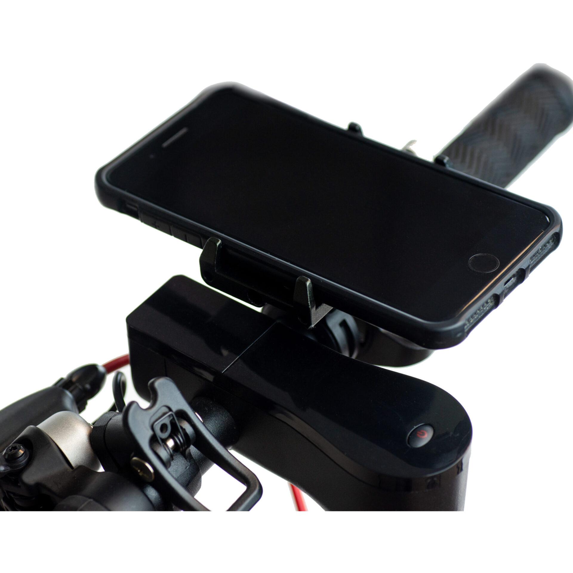 Swiss+Go Accesorio Movilidad Eléctrica ZM029 Soporte para teléfono Negro