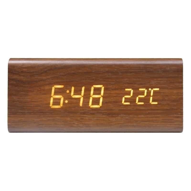 Swiss+Go Reloj despertador RD-SG-718 Madera Marrón Led
