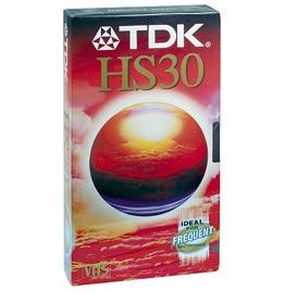 TDK VHS E 30 HS Cinta Video