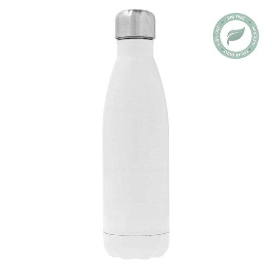 AP Botella 500ml Personalizable Acero Inoxidable Termo Blanca
