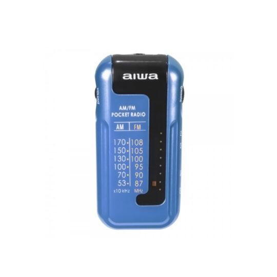 Radio de bolsillo Aiwa R-22BL + auriculares, AM/FM, Azul