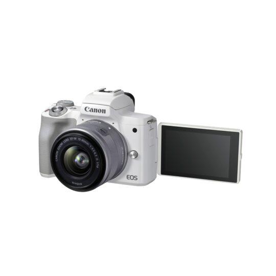 Cámara Evil Canon Eos M50 Mark II + EF-M 15-45mm F3.5-6.3 IS STM Blanca